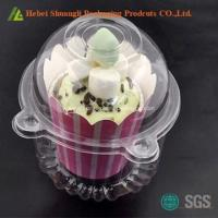 China Clear single plastic cupcake containers on sale