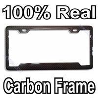 Buy cheap 100% Real Carbon Fiber License Plate Frame Style D from wholesalers