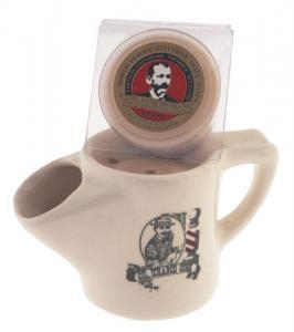 Quality Barber Shave Mug with Col Conk Amber Shave Soap for sale