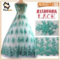 Handwork beaded net lace rope embroidery french lace Manufactures