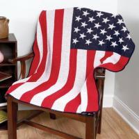 China USA FLAG RECYCLED COTTON THROW wholesale