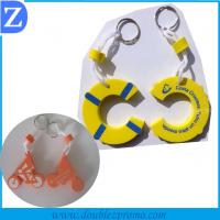 China Silk screen printing eva keychain wholesale