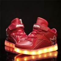 New developing LED shoes for kids light up high tops simulation sneaker for dropshipping Manufactures
