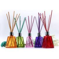 Wholesale 60ml Reeds Aroma Diffuser Bottle Tower Looking with Colored Wooden Cap Manufactures