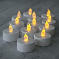 Glows Pack of 12 Electronic LED Tea Light Candles