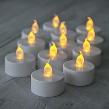 Quality Glows Pack of 12 Electronic LED Tea Light Candles for sale