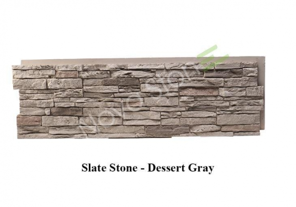 Quality Decor Artificial Fake Slate Stone Wall Panels Stone Veneer Panels Interior Wall Paneling for sale