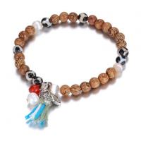 Newest Handmade Beaded And Wooden Beads Bracelet For Female, Stretch Crystal Bracelet BC6-00144 Manufactures