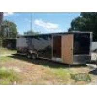 8.5x24 Enclosed Car Hauler w/V-nose and rear ramp and side door Manufactures