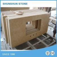 Custom Sunny Beige Marble Kitchen Countertop Worktop Benchtop Manufactures