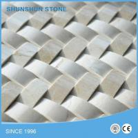 Imported Crema Marfil Marble 3D Cambered Mosaic Tile Manufactures