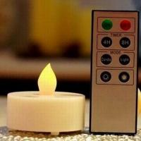 battery operated led tea light candle with remote control