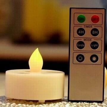 Quality battery operated led tea light candle with remote control for sale