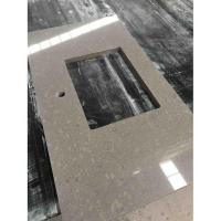 Buy cheap Prefabricated Artificial Quartz Stone Kitchen Countertop from wholesalers