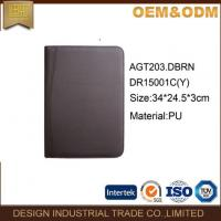 Zipper Leather Padfolio Folder Manufactures