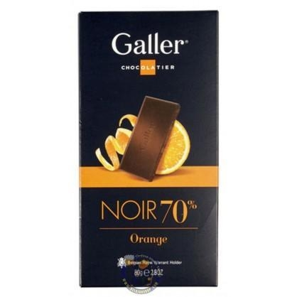 Quality Galler Tablet Noir Intense 70 % Orange for sale