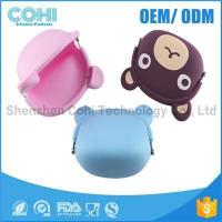 Fashionable animal waterproof rubber silicon bear shaped coin purse Manufactures