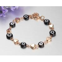 Mens stainless steel bracelets with 24K gold plating Manufactures