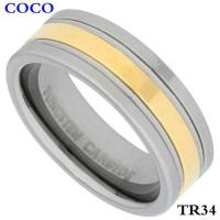 China TR34 8mm Tungsten Carbide Wedding Ring D on sale