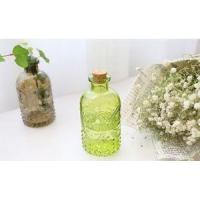 China 250ml Zakka Carved Glass Bottle Used For Home Fragrance Reed Diffuser Or Home Decoration on sale