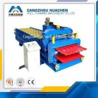 China High Speed Double Layer Corrugated Roll Forming Machine Panasonic PLC Control System on sale