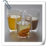 Artificial Blowing Lead-free Double Wall Glass Tea Cup