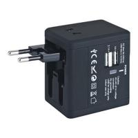 China Black Box Travel Adaptor 2.1A - (printed with 1 colour(s)) - (OD5085-2_PROMOITS) wholesale