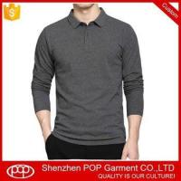 China custom long sleeve pique youth cotton polo shirt with embroidered logo on sale