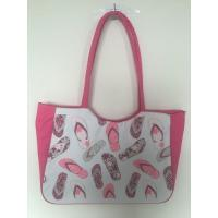 Buy cheap Shoe Printed With Shinny Sequin Deceration 600D Polyester Beach Tote Bag from wholesalers