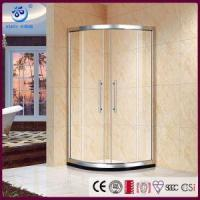 Offset Neo Round Sliding Shower Enclosure, Anti-Lift Safety Rollers,Quadrant Curved Glass (KT6609) Manufactures