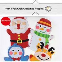 China Craft Felt Christmas Hand Puppets Kits For Kids Craft Project on sale