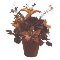 Buy cheap Silk Flowers - Autumn Rose Hibiscus from wholesalers