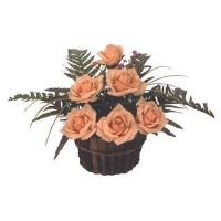 Buy cheap Silk Flowers - Peach Roses from wholesalers
