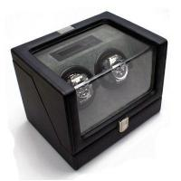 Heiden Vantage Double Watch Winder with LCD - Black Leather Sold Out Manufactures