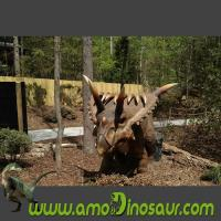 Buy cheap Amusement park animatronic dinosaurs Kosmoceratops with waterproof device from wholesalers