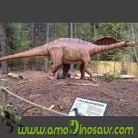 China Electronically controlled puppets amargasaurus for animatronic dinosaurs show on sale