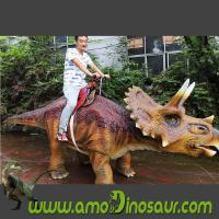 Buy cheap Amusement park kids dinosaur games animatronic walking dinosaur rides from wholesalers