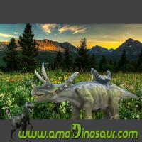 Buy cheap Ride a triceratops dinosaur walking in the amusement park from wholesalers