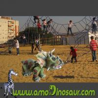 Buy cheap Amusement and safe small cartoon triceratops dinosaur car for baby from wholesalers
