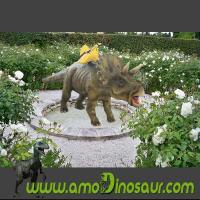 Buy cheap Educational amusement triceratops dinosaur ride manufacturer from wholesalers