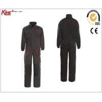 Factory production long sleeves reinforcement coverall, chest pockets elastic waist coverall Manufactures