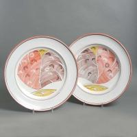 A pair of Aldermaston Pottery Plates Manufactures