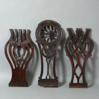 A set of three George III chair splats Manufactures
