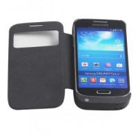 Window view 2600mah backup power bank flip cover case for SAMSUNG GALAXY s4 mini i9190 Manufactures
