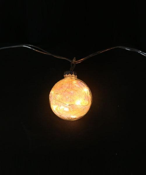 Quality Mini glass ball LED string lights on copper wire - 50495205
