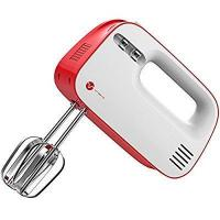 Vremi 3 Speed 150 Watt Electric Hand Mixer in Red with Built In Storage Case for Beaters Manufactures