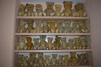 Lot Of 40 Old Vtg Antique Teddy Bear Toy Straw Jointed Stuffed Mohair European Manufactures