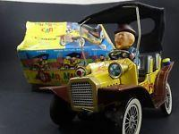 Buy cheap 2 Vintage 1961 Hubley Mr Magoo Japan Tin Litho Battery Friction Car Toy Box Lot from wholesalers