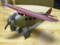 1930s Prewar Antique Classic Usa Propeller Plane Bomber Airplane Tin Steel Toy Manufactures