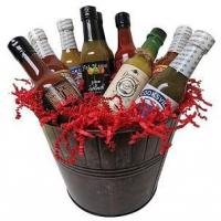 Gourmet Foods Bucket of Heat Gift Basket Manufactures